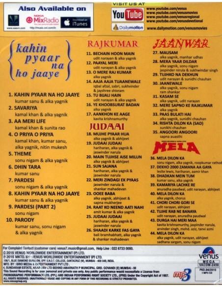Golden Collection: Kahin Pyaar Na Ho Jaaye - Rajkumar - Judaai - Jaanwar - Mela (MP3)