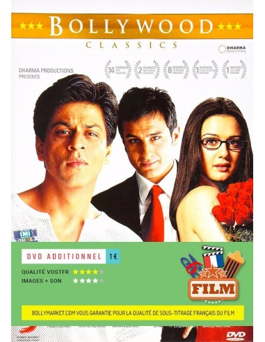 kal ho naa ho dvd disponible en fran ais dvdfr inclure film sous titr fran ais 1. Black Bedroom Furniture Sets. Home Design Ideas
