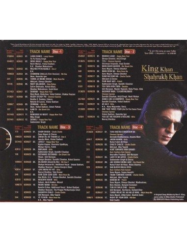King Khan Shahrukh Khan - 4 CD Set