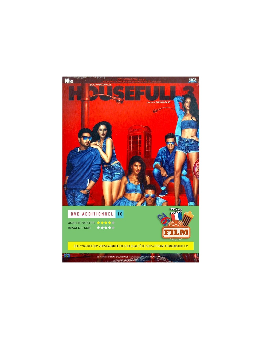 housefull 3 dvd 2016 disponible en fran ais. Black Bedroom Furniture Sets. Home Design Ideas