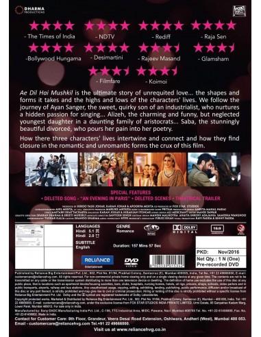Ae Dil Hai Mushkil DVD