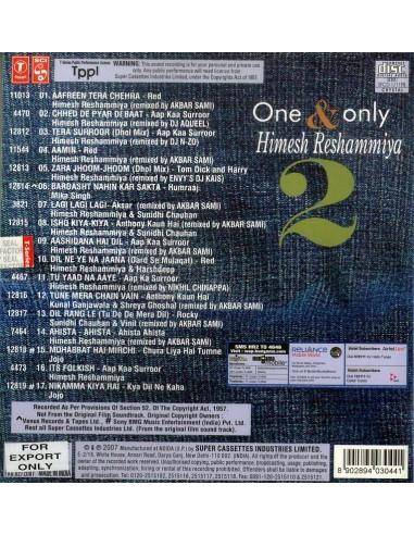 One & Only Himesh Reshammiya 2 CD