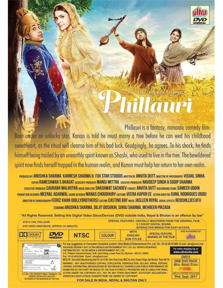 Phillauri DVD