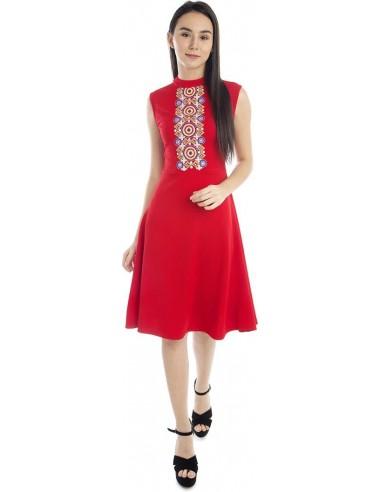 Women A-line Red Dress - Addyvero