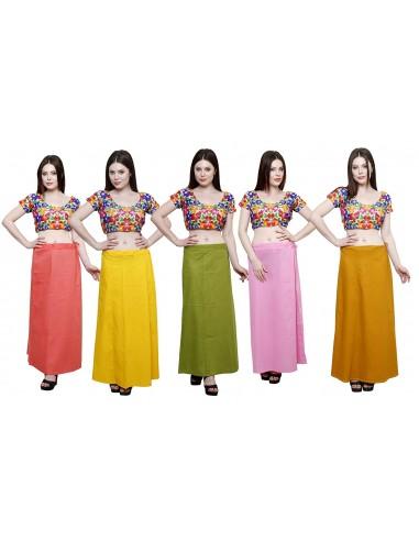 Women Cotton Saree Petticoats