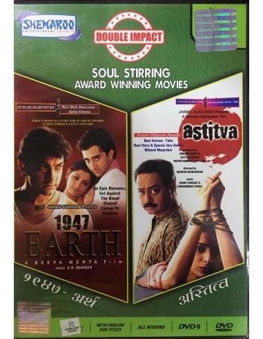 Double Impact : 1947 Earth + Astitva (DVD)