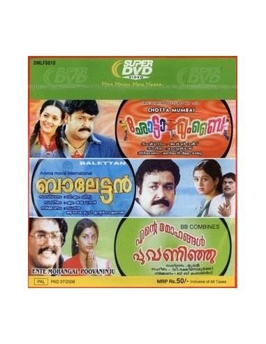 Chotta Mumbai / Balettan / Ente Mohangal Poovaninju - DVD